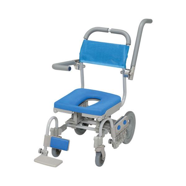(代引き不可)シャワーラクVセーフティ SWR140SA O型シート ウチヱ (お風呂 椅子 浴用 シャワーキャリー 背付き 介護 椅子) 介護用品