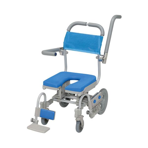 (代引き不可)シャワーラクVセーフティ SWR142SA U型シート ウチヱ (お風呂 椅子 浴用 シャワーキャリー 背付き 介護 椅子) 介護用品