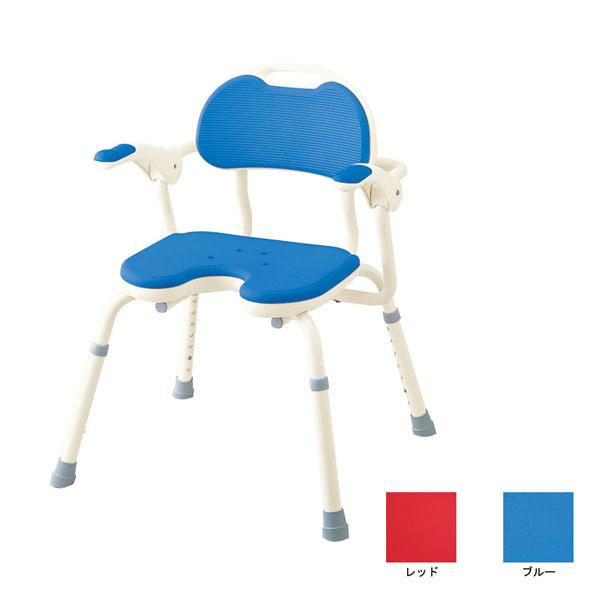 アロン化成 安寿 ひじ掛け付きシャワーベンチ TH-U U型座面 536-150 536-152 (介護用 風呂椅子 介護 浴室 椅子 肘掛け椅子) 介護用品