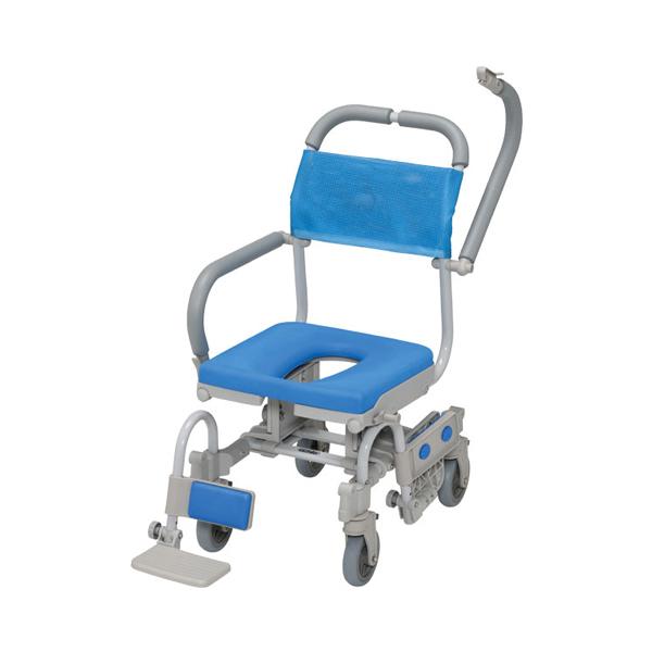 (代引き不可) シャワーラク4輪自在V O型シート SWR150 ウチヱ (お風呂 椅子 浴用 シャワーキャリー 背付き 介護) 介護用品