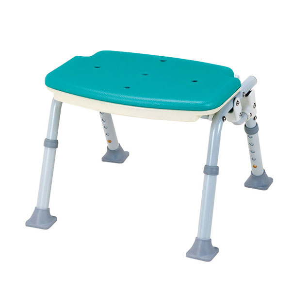 ソフテック ミドルタイプ 背なし SBM-12GR マキライフテック (シャワーベンチ 折りたたみ式 介護入浴 お風呂椅子) 介護用品