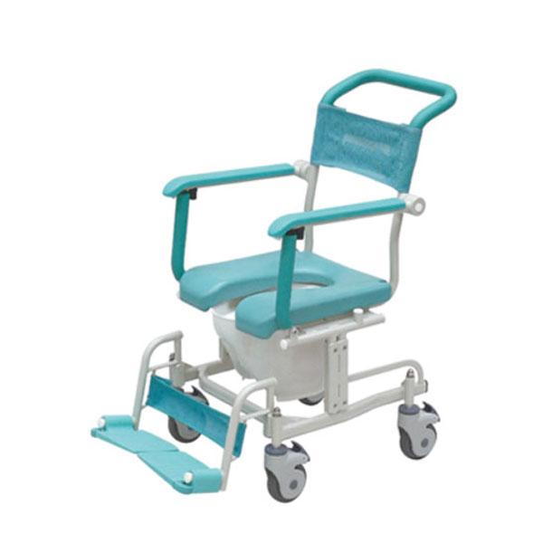 (代引き不可)シャワーキャリー(CAK-460) トイレットタイプ・4輪自由車 介護用品