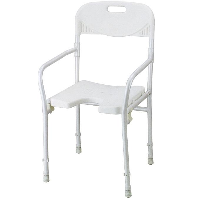 (代引き不可)赤井 折り畳みシャワーチェアー/2850(入浴いす 折りたたみ式)介護用品