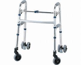 イーストアイ セーフティーアームウォーカー Gタイプ スイングキャスタータイプ ミニタイプ SAWGSR (介護 歩行器 歩行補助器 折たたみ) 介護用品