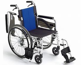 (代引き不可)自走用車いす BAL-3 ミキ(自走用車いす 標準車いす) 介護用品