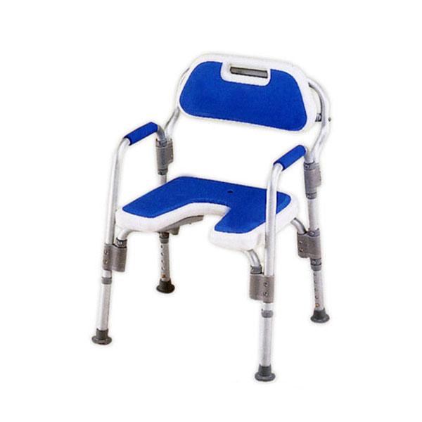 (代引き不可) アクションジャパン 折りたたみ式シャワーベンチ HS2070 (介護用 風呂椅子 浴室 椅子 チェア 折りたたみ 肘掛け椅子)介護用品