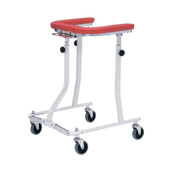 (1/1から1/5までポイント2倍!!)(代引き不可) 折りたたみ式歩行車 四輪自在 TY157F 日進医療器 (歩行器 折りたたみ) 介護用品