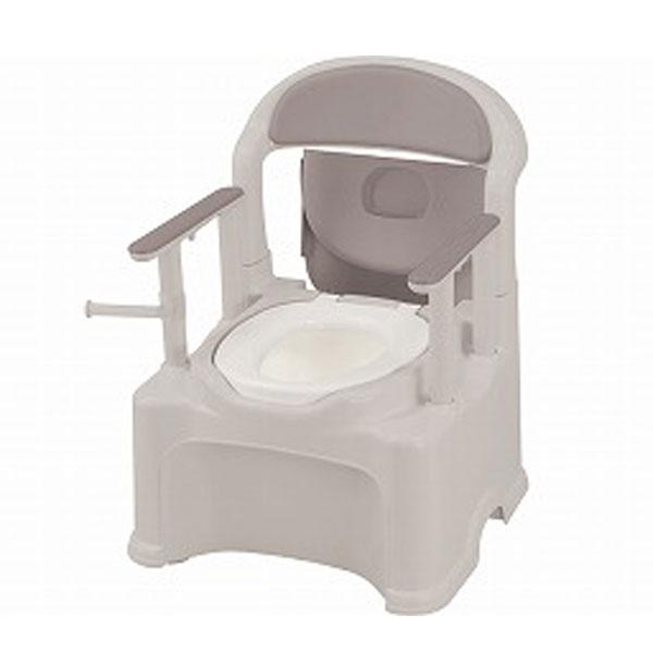 ポータブルトイレ きらく P2シリーズ 47530 標準便座 PS2型 リッチェル (ポータブルトイレ 介護 トイレ 肘付き椅子 プラスチック 椅子) 介護用品