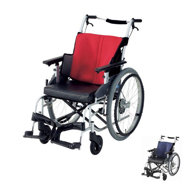 (1/1から1/5までポイント2倍!!)(代引き不可) 座王 NA-501A 自走式 座幅40cm 42cm 日進医療器 (車椅子 車いす 自走式) 介護用品