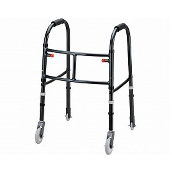MgウォーカーII型 キャスター付き S M 田辺プレス (歩行器 超軽量 歩行訓練 折りたたみ) 介護用品