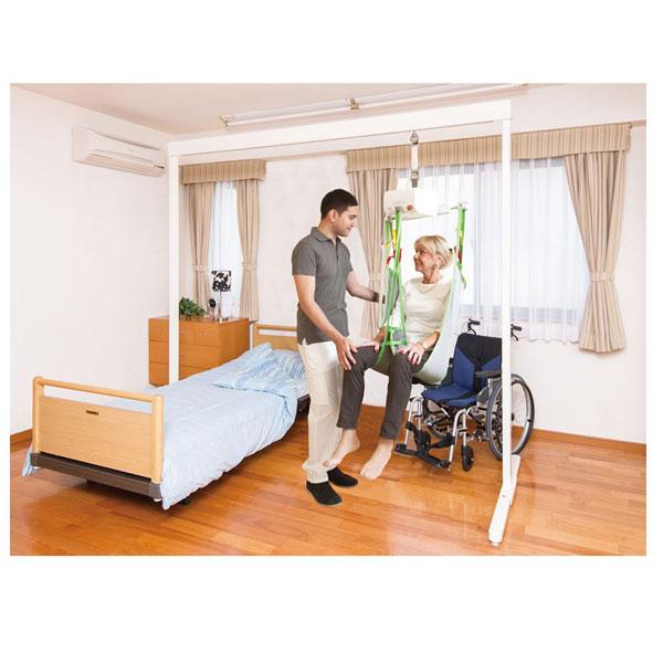 (代引き不可) 竹虎 ヒューマンケア事業部 据置型介護リフト かるがかるがるプチV 標準セット 510070 (室内用移動用リフト) 介護用品