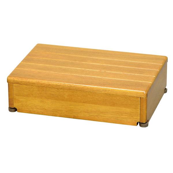 安寿 木製玄関台 45W-30-1段 (幅45×奥行30×高さ12cm) ライトブラウン 535-546 アロン化成 (玄関 踏み台 木 踏み台 木製 転倒防止 ステップ 踏み台 ステップ 木製) 介護用品