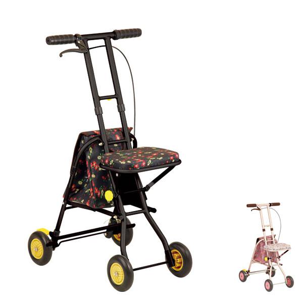 プチカ SICP01 幸和製作所 (シルバーカー 手押し車 コンパクト おしゃれ 折りたたみ 介護 シルバー カー) 介護用品
