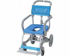 (代引き不可)楽チル O型シート RT-001 ウチエ (お風呂 椅子 浴用 シャワーキャリー 背付き 介護 椅子) 介護用品