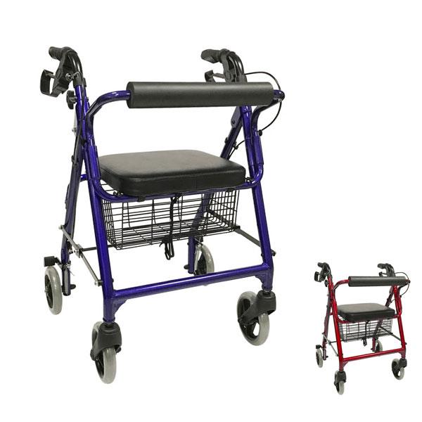 歩行車 シンフォニー 島製作所 (シルバーカー 手押し車 歩行器 介護 歩行補助 折りたたみ 介護 シルバー カー) 介護用品