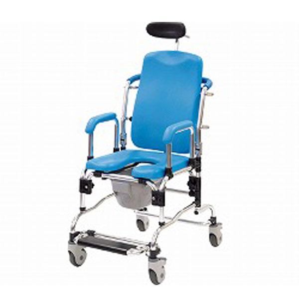(代引き不可) リクライニング シャワーキャリー 5153-20 アビリティーズ・ケアネット (お風呂 椅子 浴用椅子 シャワーキャリー 背付き 介護) 介護用品