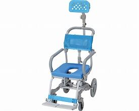 (代引き不可)楽チル O型シート ヘッドレストD付 RT-002 ウチエ (お風呂 椅子 浴用 シャワーキャリー 背付き 介護 椅子) 介護用品