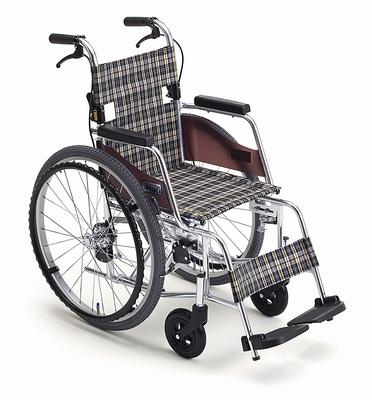 (代引き不可)ミキ アルミ自走式車いす モックMOC-43SP(コンパクト 軽量 MiKi) 介護用品