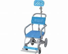 (代引き不可)楽チル 穴無しシート ヘッドレストD付 RT-004 ウチエ (お風呂 椅子 浴用 シャワーキャリー 背付き 介護 椅子) 介護用品