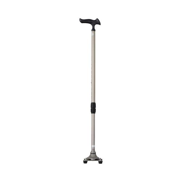 かるがも 4ポイントステッキ WB3826 ステンカラー フジホーム (4点杖 つえ 杖 歩行補助) 介護用品