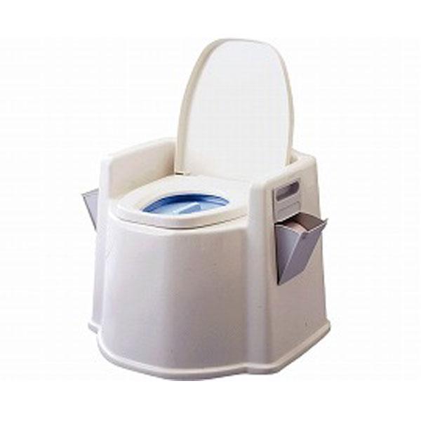 テイコブ ポータブルトイレ(肘掛け付)PT02 幸和製作所 (排泄 軽量 樹脂製 抗菌便座) 介護用品 【532P16Jul16】