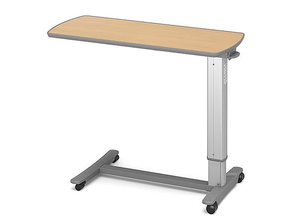 (代引き不可)パラマウント ベッドサイドテーブル / KF-1950 ビーチ(ガススプリング式 ベッドテーブル 介護)(日・祝日配達不可 時間指定不可) 介護用品