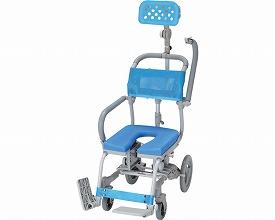 (代引き不可)楽チル U型シート ヘッドレストD付 RT-006 ウチエ(お風呂 椅子 浴用 シャワーキャリー 背付き 介護 椅子) 介護用品
