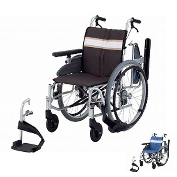 (1/1から1/5までポイント2倍!!)(代引き不可)日進医療器 アルミ自走式車いす NA-3DX(簡易モジュールタイプ 多機能 ウレタンレザーシート) 介護用品