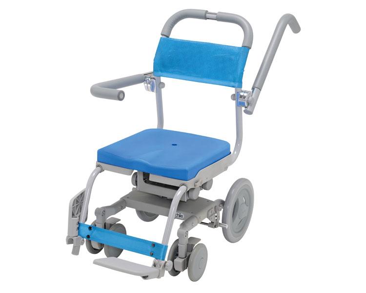 (代引き不可)【時間帯指定不可】くるくるセーフティ 穴無しシート KRU-173-SA ウチエ(お風呂 椅子 浴用 シャワーキャリー 背付き 介護 椅子 回転 椅子) 介護用品