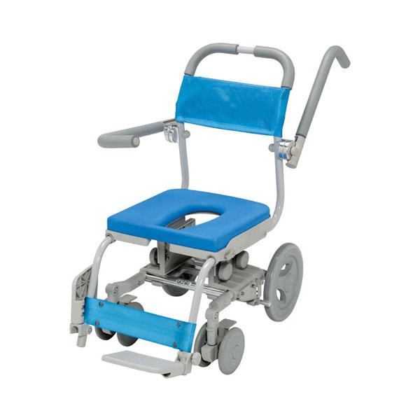 (1/1から1/5までポイント2倍!!)(代引き不可) シャワーラクセーフティ O型シート SWR-100-SA ウチヱ (お風呂 椅子 浴用 シャワーキャリー 背付き 介護 椅子) 介護用品