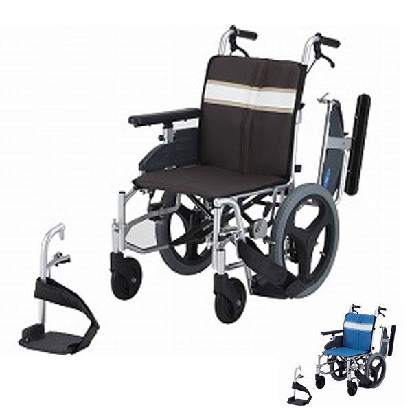 (4/5日限定 当店全品ポイント2倍!!)(代引き不可)日進医療器 アルミ介助式車いす NA-3DX(簡易モジュールタイプ 多機能 ウレタンレザーシート) 介護用品