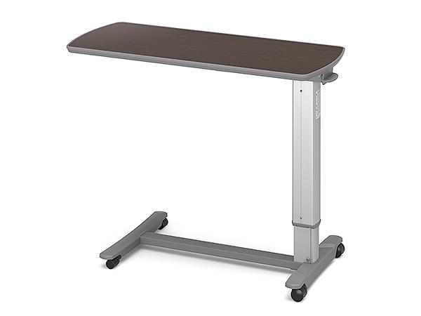 (代引き不可)パラマウント ベッドサイドテーブル / KF-1970 ウォールナット(ガススプリング式 ベッドテーブル 介護)(日・祝日配達不可 時間指定不可) 介護用品