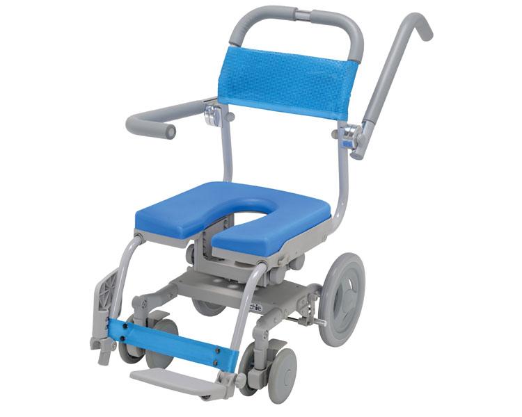 (代引き不可)【時間帯指定不可】くるくるセーフティ U型シート KRU-174-SA ウチエ(お風呂 椅子 浴用 シャワーキャリー 背付き 介護 椅子 回転 椅子) 介護用品