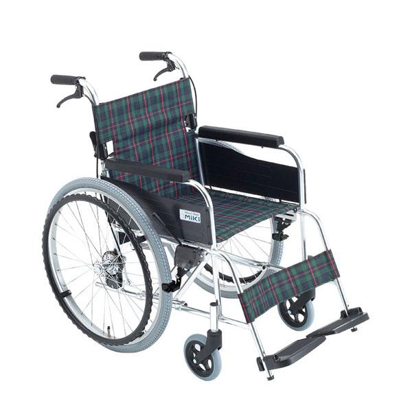 (代引き不可) アルミ自走車いす M-1シリーズ MPN-43JD ミキ (スタンダード シンプル) 介護用品