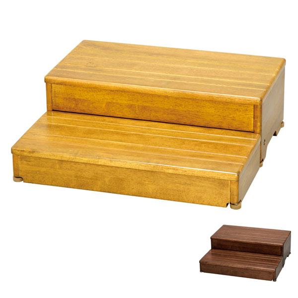 安寿 木製玄関台 2段タイプ 60W-30-2段 535-584 535-586 (幅60×奥行55・60(2段階)×高さ20cm) アロン化成 (玄関 踏み台 木 踏み台 木製 転倒防止 ステップ 踏み台 ステップ 木製) 介護用品