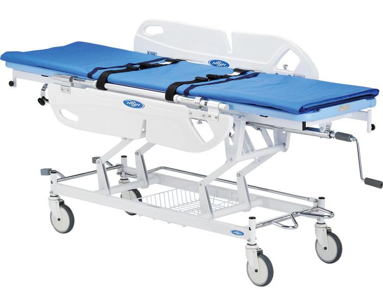 (代引き不可)移乗機能付ストレッチャー / NBST-215 トータルロックキャスター付 日進医療器 介護用品