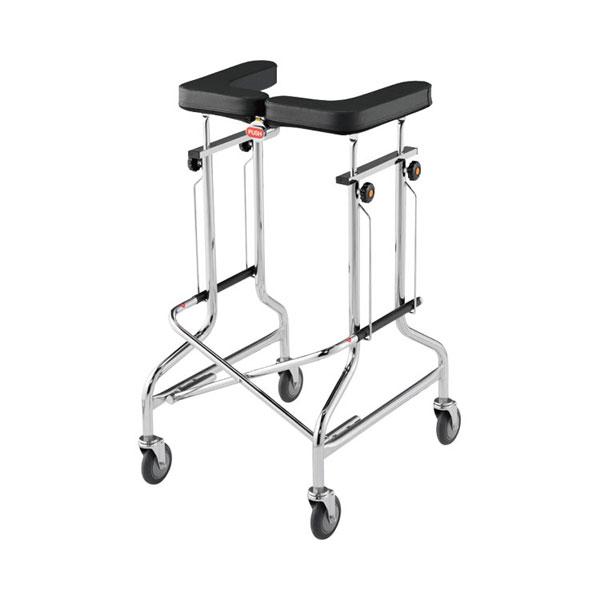 星光医療器 アルコー1S型 100415(介護 歩行器 歩行訓練 歩行補助 コンパクト 折りたたみ式)