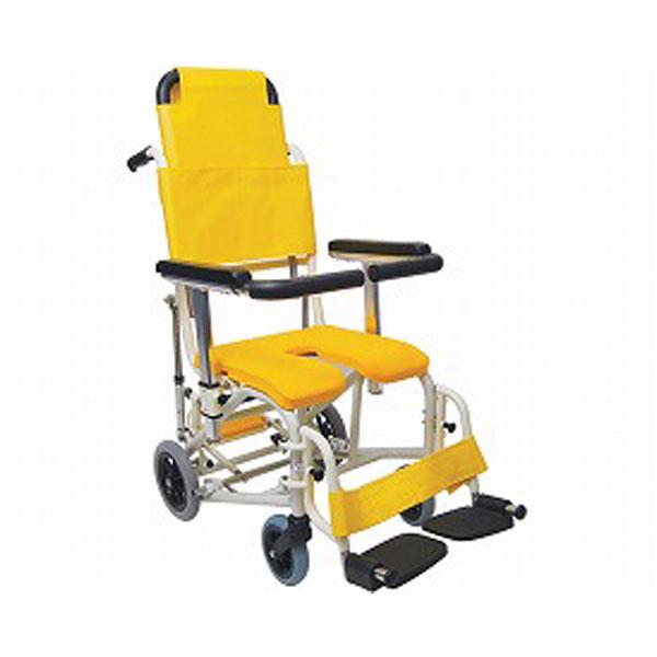 (4/1日限定 当店全品ポイント5倍!!)(代引き不可)シャワー用車いす ぴったりフィット KS11-PF U型 クリあり カワムラサイクル (お風呂 椅子 浴用椅子 シャワーキャリー 背付き 介護 椅子) 介護用品