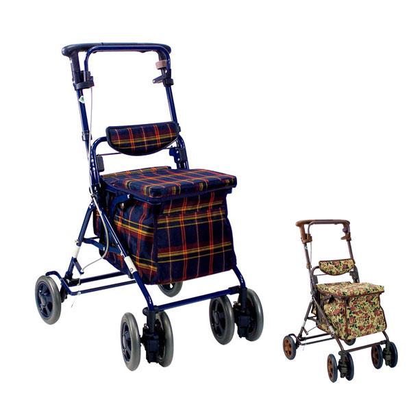 シルバーカー アルト 島製作所(シルバーカー 手押し車 ショッピングカート 折りたたみ 買い物かご 背もたれ 介護 シルバー カー) 介護用品