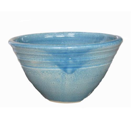 陶芸手洗い鉢 ブルーガラス(小)洗面台/洗面ボール創作 美濃焼伝統工芸士