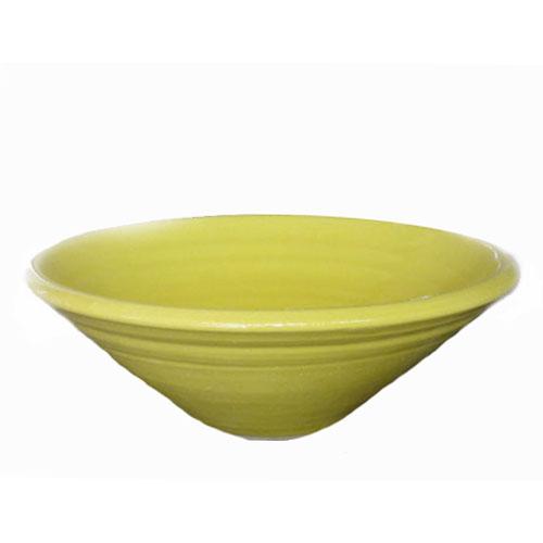 陶芸手洗い鉢 イエロー ガラス 中 洗面台洗面ボール 美濃焼伝統工芸士が創作
