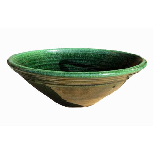 陶芸手洗い鉢 織部 中 洗面台 洗面ボール創作 美濃焼伝統工芸士