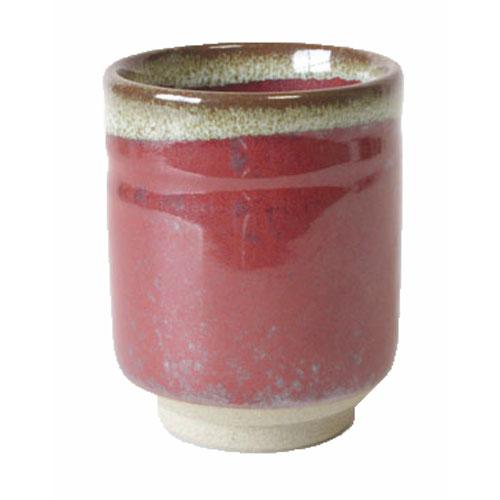 熱~いお茶がお好きな貴方に最適 三色そろってお好みをどうぞ 湯呑 赤楽 食洗機ok レンジok 湯呑国産 安値 驚きの値段で