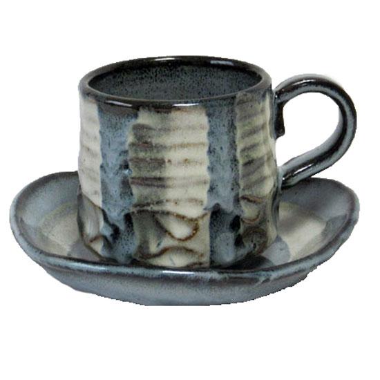 美濃焼 土物のカップ 保障 ソーサーでコーヒータイムを コーヒーカップ ソーサー 均窯十草 即納送料無料! 碗皿国産 業務用プレゼントにも最適