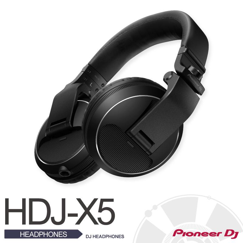 PioneerHDJ-X5-K【パイオニア】【DJ HEADPHONES (black)】