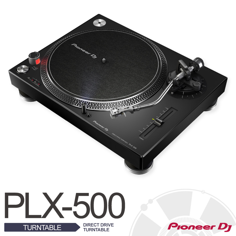 Pioneer PLX-500-K〈DIRECTDRIVE TURNTABLE〉【パイオニア】【ダイレクトドライブターンテーブル】