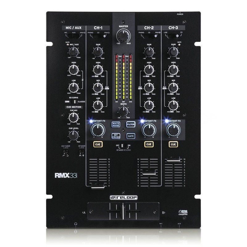 Reloop RMX-33i DJミキサー【リループ】【3+1チャンネル】【送料無料】
