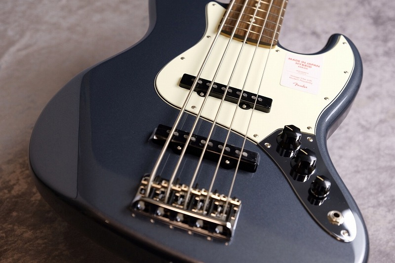 Fender Made In Japan Hybrid Jazz Bass V- Charcoal Frost Metallic-【NEW】 【お茶の水駅前店在庫品】