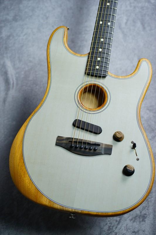 Fender  【濃いトップカラー!!】 American Acoustasonic? Stratocaster -Transparent Sonic Blue- [2.46kg]