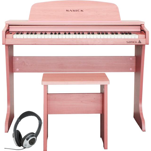 Samick ( サミック ) 61 KID-O2 / Pink 【ヘッドフォンサービス】【ピンクカラー】《子供向けミニデジタルピアノ》 【送料無料】